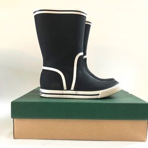 LACOSTE - Black and White Rainboots